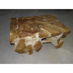 Meble ogrodowe teakowe - Główna z teku - Stół root coffe 90 x 60 x 45 cm