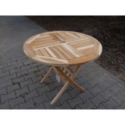 Meble ogrodowe teakowe - Główna z teku - Stół Orlando 90 cm