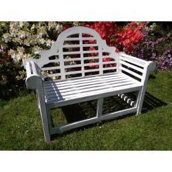 Meble ogrodowe teakowe - Główna z teku - Ławka Marlborough 120 cm biała