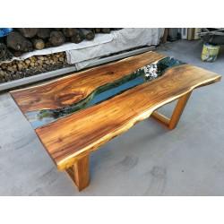 Meble ogrodowe teakowe - Główna z teku - Stół Natural 180x95x78 cm drewno suar