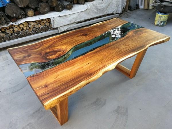Stół Natural 180x95x78 cm drewno suar