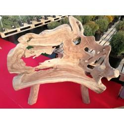 Meble ogrodowe teakowe - Główna z teku - Ławka Root 3 osobowa