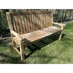 Meble ogrodowe teakowe - ławki z teku - Ławka Westminster 180 cm Teak wysokie oparcie