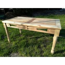 Meble ogrodowe teakowe - stoły z teku - Stolik Lawenda 100 cm