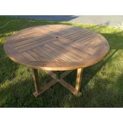 Meble ogrodowe teakowe - stoły z teku - Stół Elegance A 120 - 170
