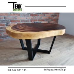 Meble ogrodowe teakowe - Stoły z teku - Stół root coffe 90 x 60 x 45 cm