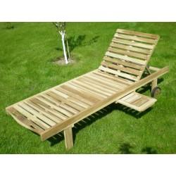 Meble ogrodowe teakowe - Leżaki z teku - Leżak Sunset