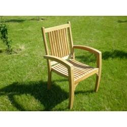 Meble ogrodowe teakowe - Krzesła z teku - Krzesło Premium