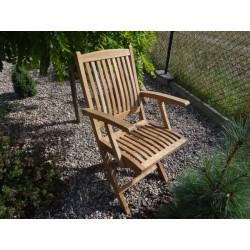 Meble ogrodowe teakowe - Krzesła z teku - Krzesło New Bali