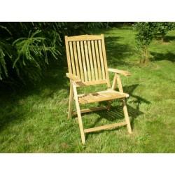 Meble ogrodowe teakowe - Krzesła z teku - Krzesło Borneo 5 pozycji