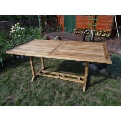 Meble ogrodowe teakowe - Stoły z teku - Stół Chicago 180 cm - 240 cm
