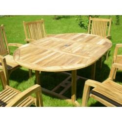 Meble ogrodowe teakowe - Stoły z teku - Stół Elegance 120 - 170 A
