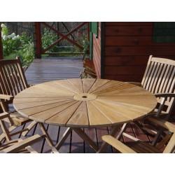 Meble ogrodowe teakowe - Stoły z teku - Stół Matari 120