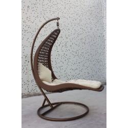 Meble ogrodowe teakowe - Leżaki z teku - Leżak Legwan