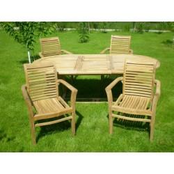 Meble ogrodowe teakowe - Zestawy z teku - Zestaw Grand I