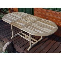 Meble ogrodowe teakowe - Stoły z teku - Stół President 160 - 210 B
