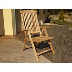 Meble ogrodowe teakowe - Krzesła z teku - Krzesło Bonty B 5 pozycyjne