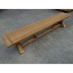 Meble ogrodowe teakowe - Ławki z teku - Ława Rustic 240 cm