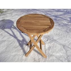 Meble ogrodowe teakowe - Stoły z teku - Stolik Texas 50 cm