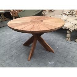 Meble ogrodowe teakowe - Stoły z teku - Stół Helios 120 cm